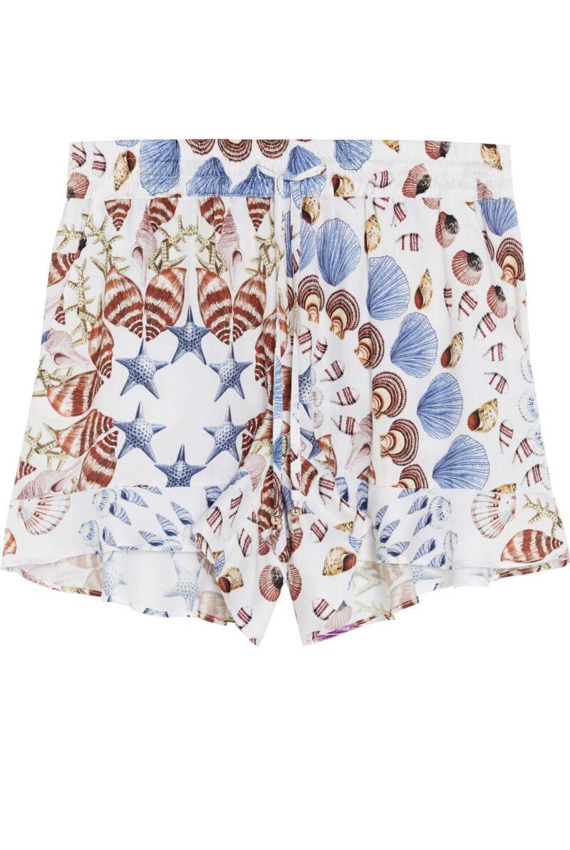 Shorts med snäckmönster.