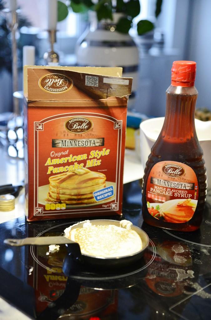 amerikanska pannkakor med kokos