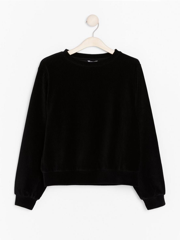 Sweatshirt i manchestertyg  Svart