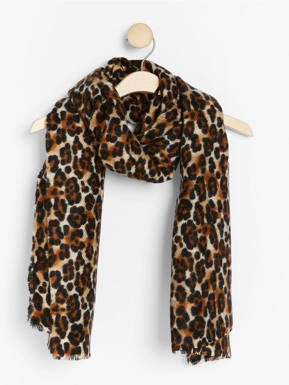 Leopardmönstrad halsduk  Brun